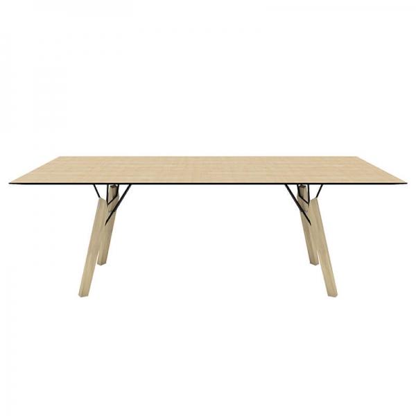 Table design cocooning rectangulaire en placage bois - Gravity Mobitec® - 7