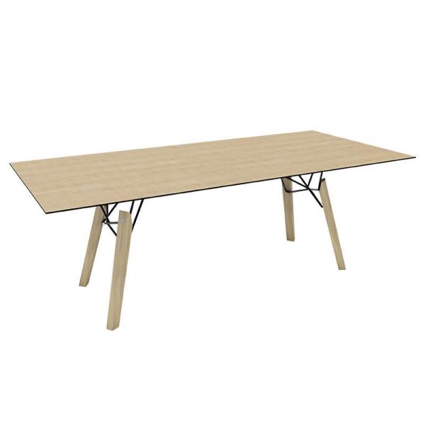 Table design nordique rectangulaire en placage bois - Gravity Mobitec® - 8