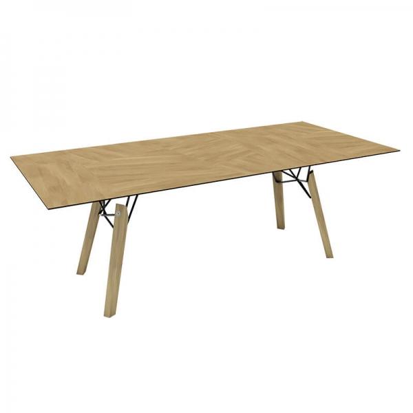 Table design rectangulaire en placage bois naturel - Gravity Mobitec® - 10