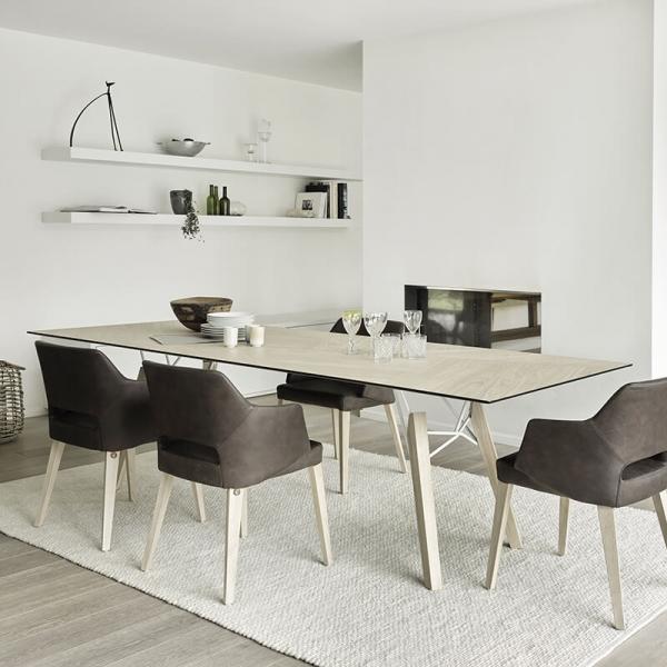 Table design rectangulaire en placage bois - Gravity Mobitec® - 1