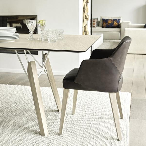 Table scandinave rectangulaire en placage bois - Gravity Mobitec® - 2
