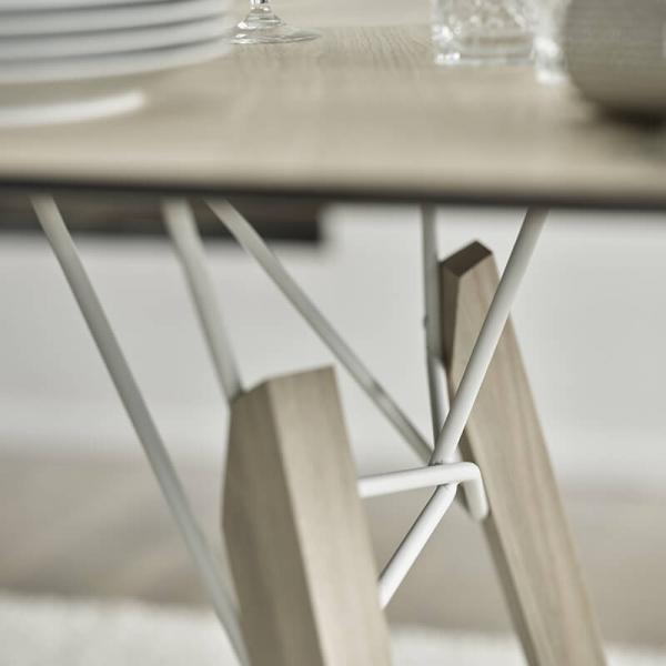 Table design vintage rectangulaire en placage bois - Gravity Mobitec® - 3