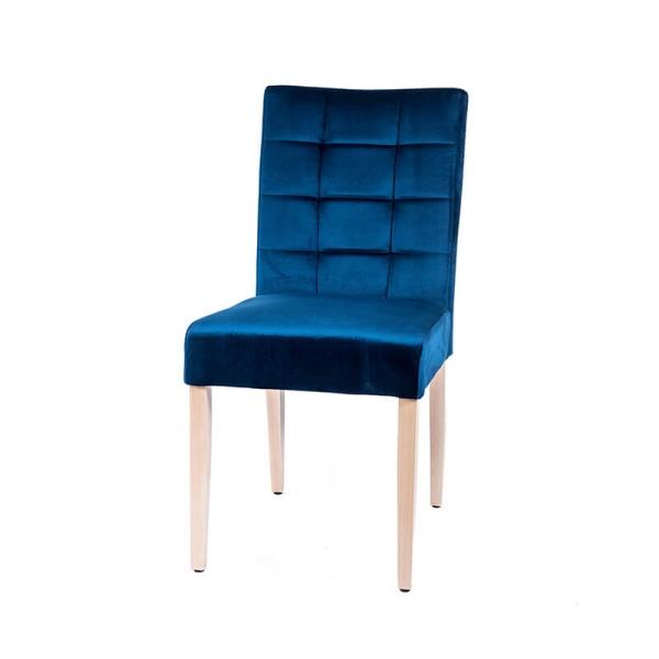 Chaise bleue avec poignée sur le dossier - Matias 2 - 2