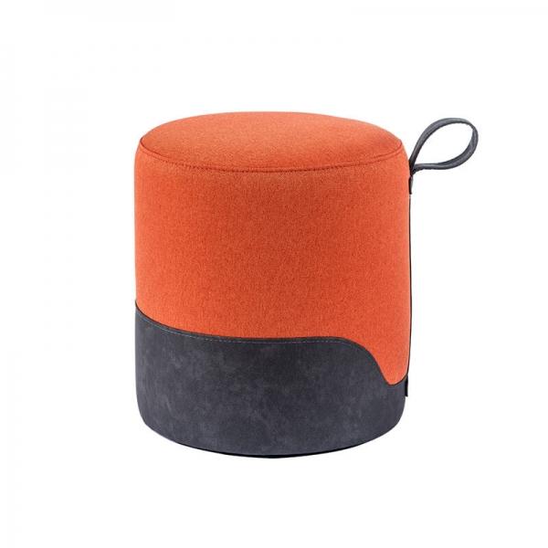 Pouf rond orange - Edith - 18