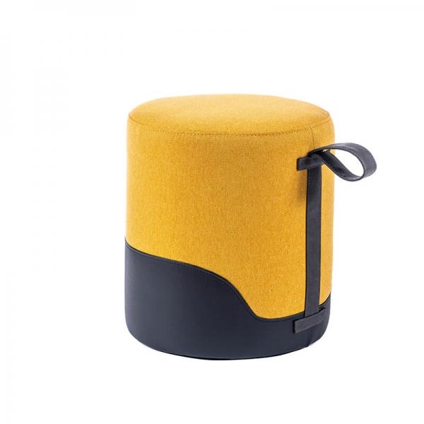 Pouf jaune bicolore - Edith - 31