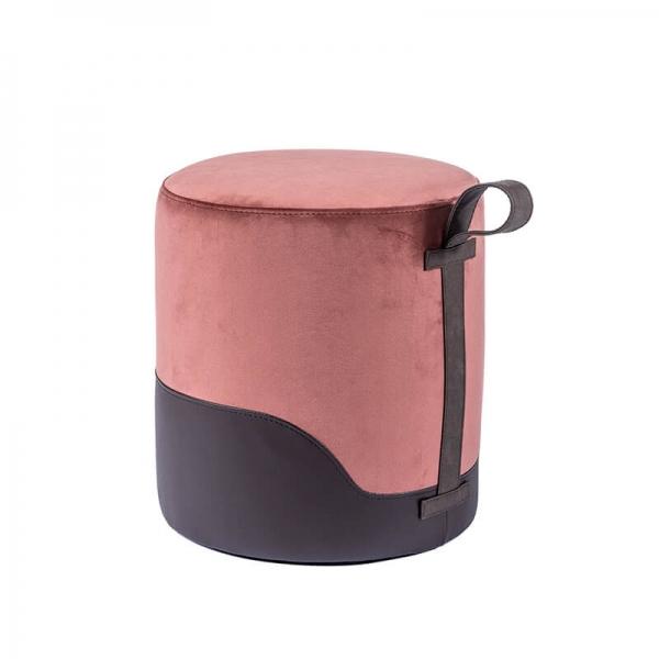 Pouf marron bicolore - Edith - 33