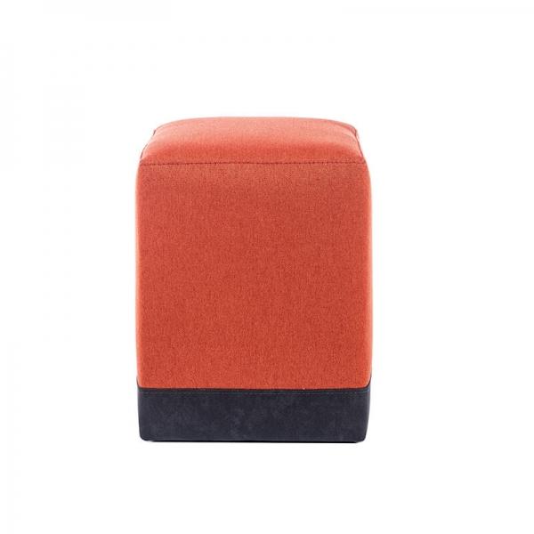 Pouf cube bicolore orange - Piaf - 7