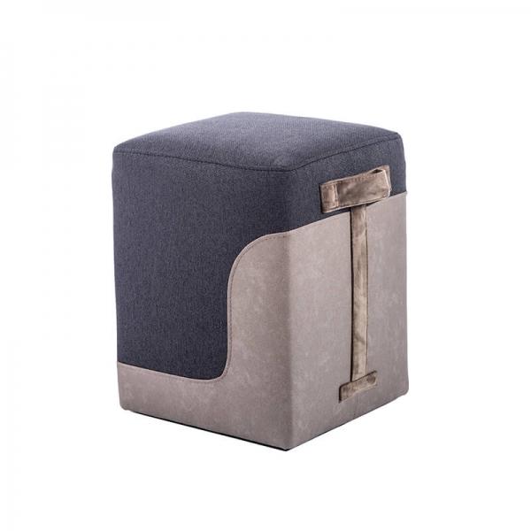 Pouf carré bicolore gris foncé - Piaf - 8