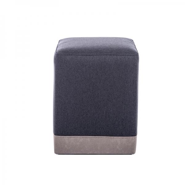 Pouf cube bicolore gris foncé - Piaf - 9
