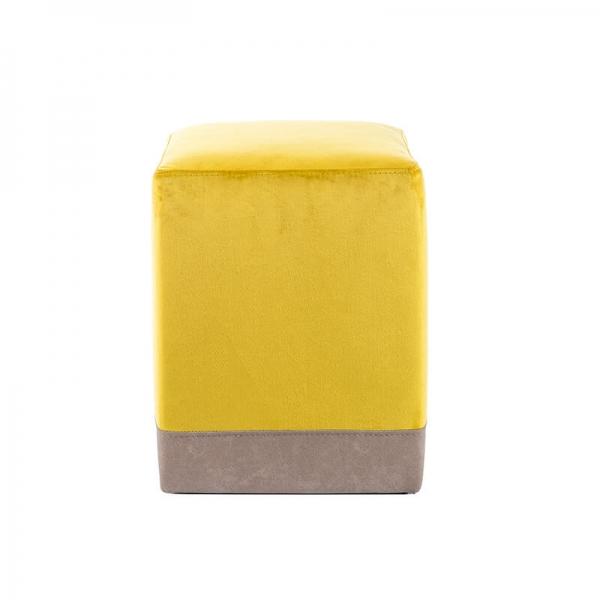 Pouf cube bicolore jaune - Piaf - 11