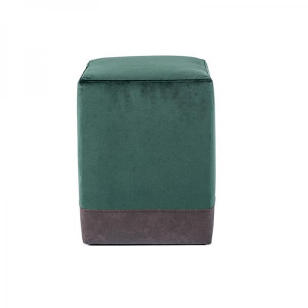 Pouf cube bicolore vert - Piaf - 15