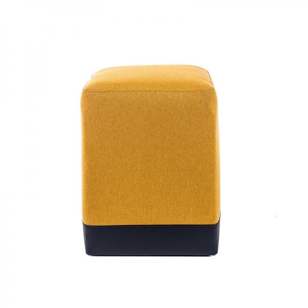 Pouf cube bicolore jaune et gris - Piaf - 21