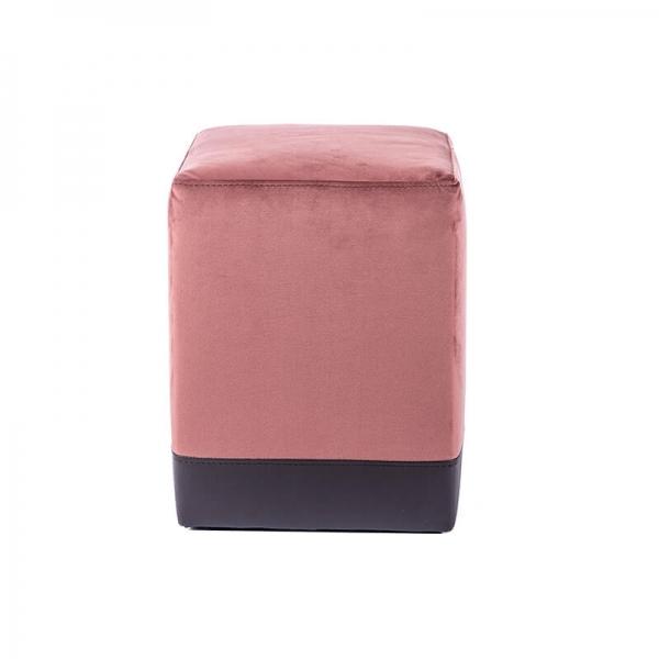 Pouf carré bicolore marron et gris - Piaf - 23