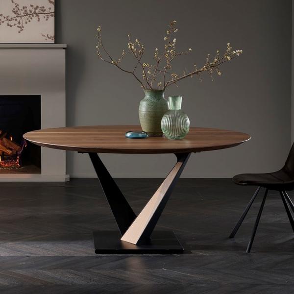 Table industrielle design avec pied central en V - Toledo West - 2