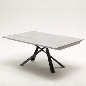 Table design italienne extensible grise avec pieds mikado - Lungo largo