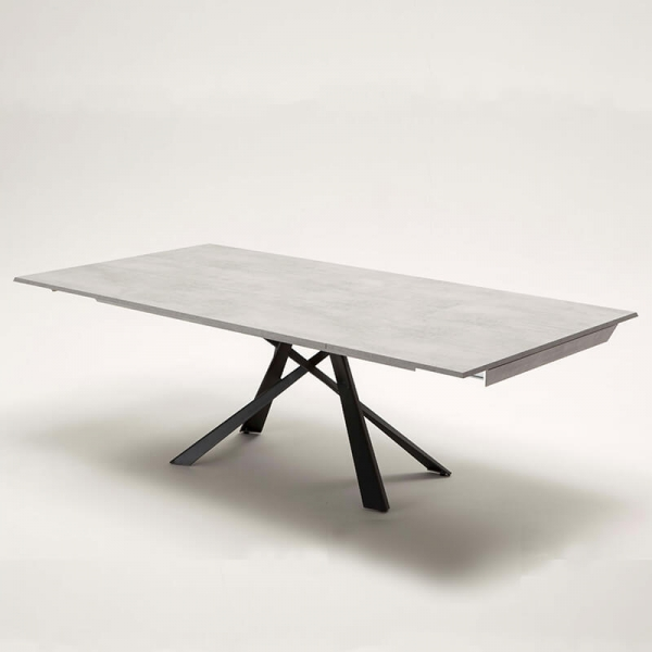 Table design italien et extensible pieds mikado - Lungo largo - 12