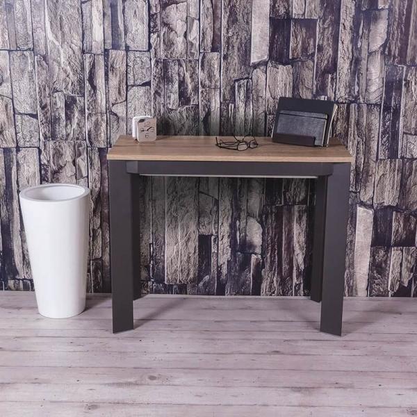 Table console avec allonges en mélaminé - Trek - 1