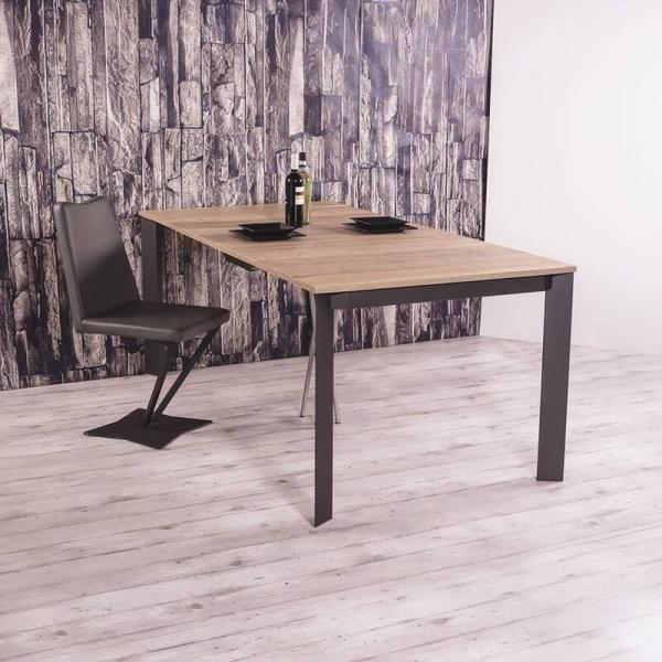 Table console extensible en mélaminé imitation bois - Trek - 2