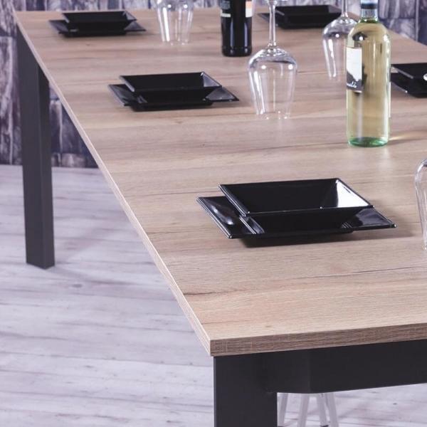 Console transformable en table en mélaminé imitation bois - Trek - 4