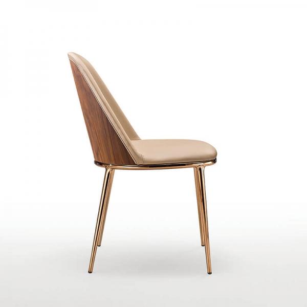 Chaise design Midj avec dos du dossier en bois - Léa - 2