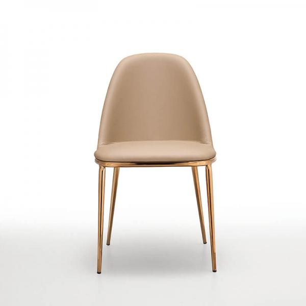 Chaise moderne italienne avec dos du dossier en bois - Léa Midj® - 3