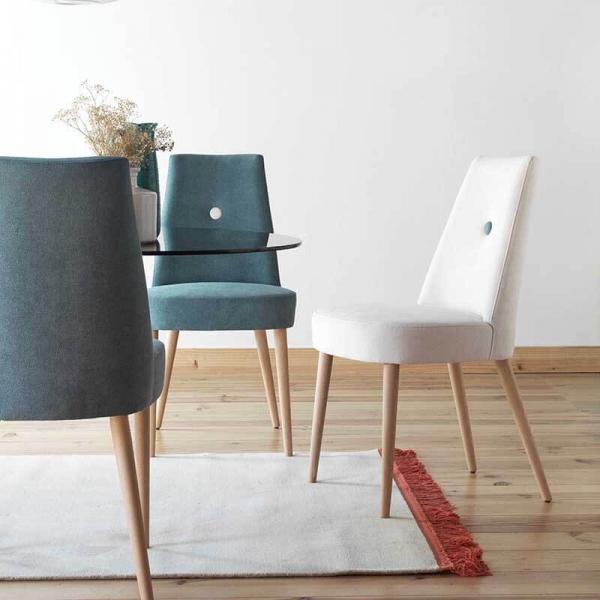 Chaise confortable en bois et tissu - Brisa - 2