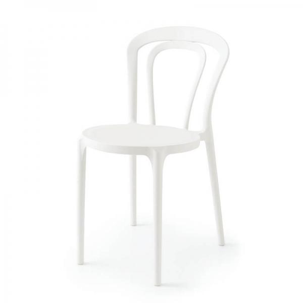 Chaise bistrot en polypropylène blanc - Caffè Connubia® - 8
