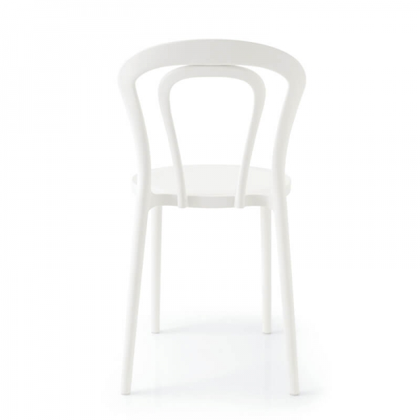 Chaise bistrot en plastique blanc - Caffè Connubia® - 9
