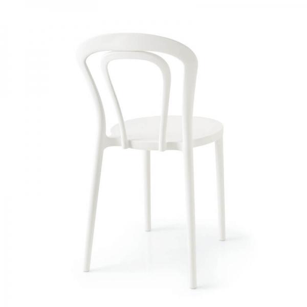 Chaise bistrot italienne en plastique blanc - Caffè Connubia® - 10