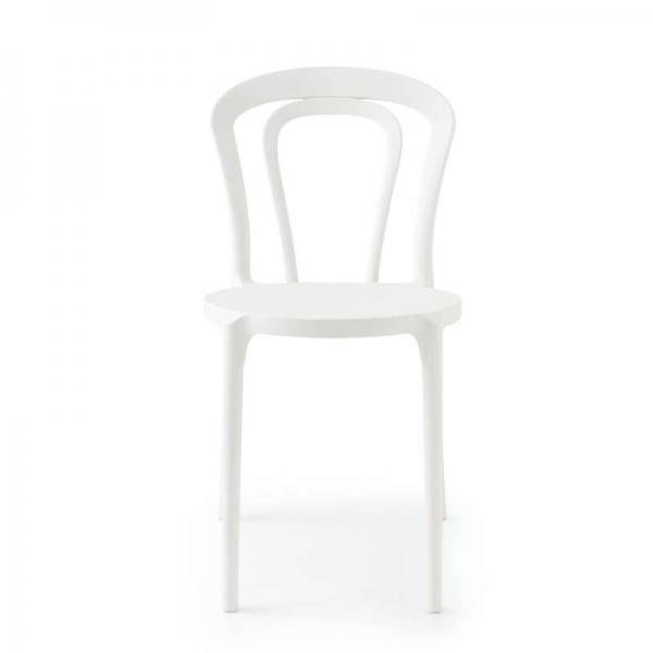 Chaise style bistrot en polypropylène blanc - Caffè Connubia® - 11