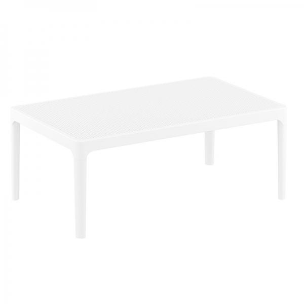 table basse en résine de jardin blanche Sky 104 - 11