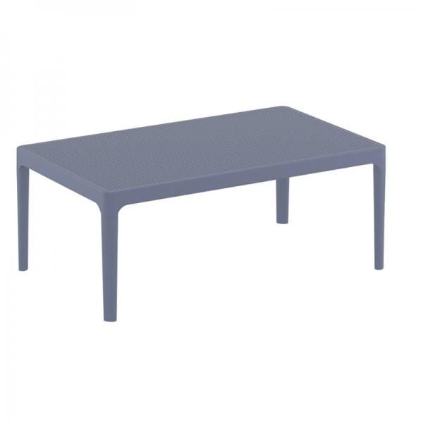 table basse de jardin rectangulaire grise foncé Sky 104 - 12