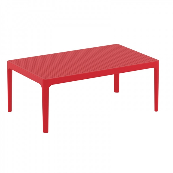 table basse rouge pour terrasse Sky 104 - 7