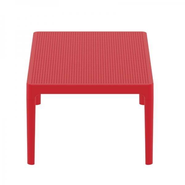 table basse en résine rouge pour salon Sky 104 - 5