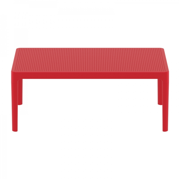table basse rouge rectangulaire Sky 104 - 6
