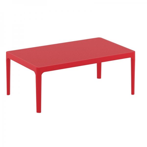 table basse de salon rouge Sky 104 - 4