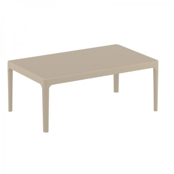 table basse pour terrasse en résine taupe Sky 104 - 13