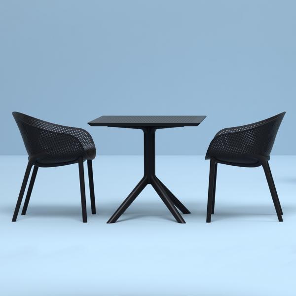 Fauteuil design noir - Sky - 2