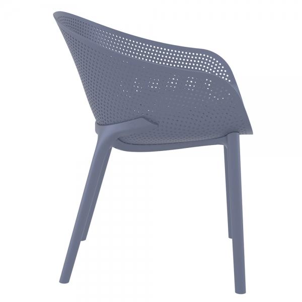 Fauteuil design pour jardin en polypropylène gris - Sky - 18