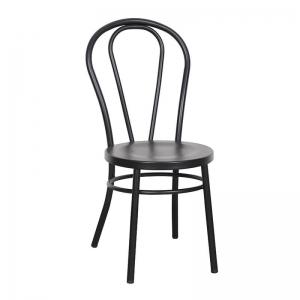 Chaise bistrot vintage en métal noir - Madina