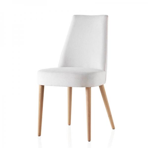 Chaise confortable en bois et tissu - Brisa - 4