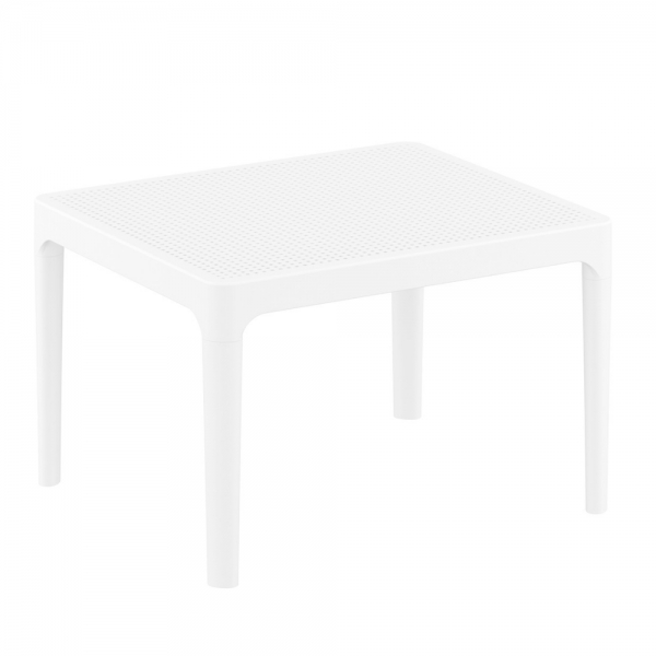 petite table basse blanche rouge pour terrasse Sky 109 - 15