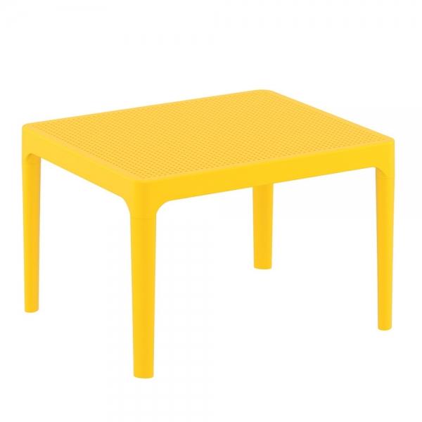 petite table basse jaune pour terrasse Sky 109 - 17