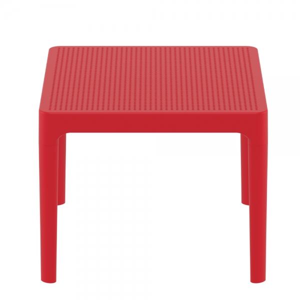 petite table basse rouge d'extérieur Sky 109 - 21