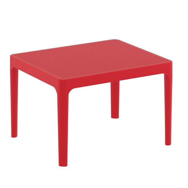 petite table basse rouge pour terrasse Sky 109 - 19