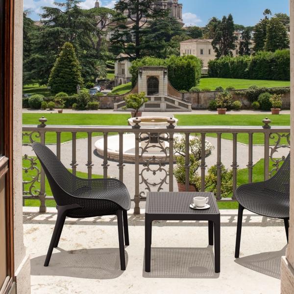 petite table basse noire pour terrasse Sky 109 - 6