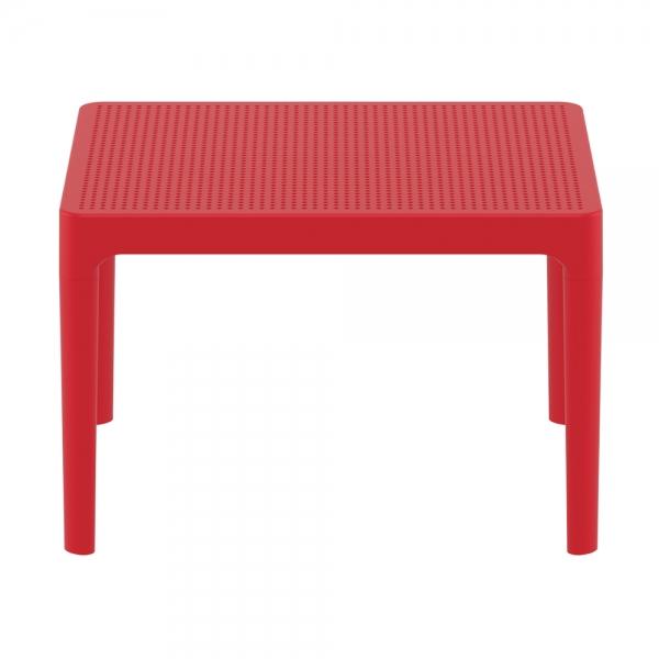 petite table basse rouge de salon Sky 109 - 18
