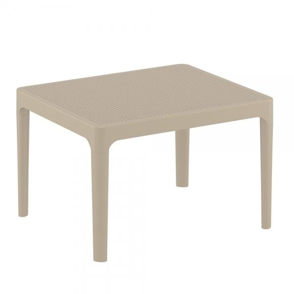 petite table basse taupe de salon Sky 109 - 19