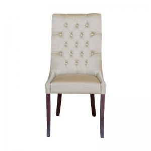 Chaise en tissu matelassée de salle à manger - Carol