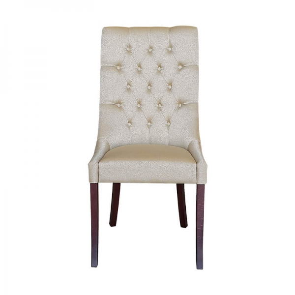 Chaise en tissu matelassée de salle à manger - Carol - 1